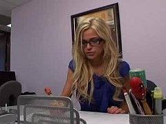 Young Blonde Cute Secretary Getting It In The Ass^beeg