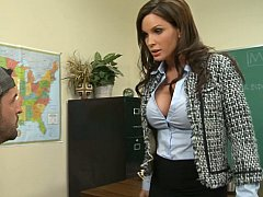 Diamond Foxxx, Kris Slater  Cheating On Tests? Lick Your Teacher's Pussy Now!^beeg