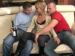 Skinny Euro Girl Takes Two Cocks And A Bottle!^beeg