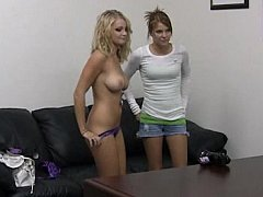 Erica, Brittney  Casting Two Young Girls. Facial Cumshot^beeg