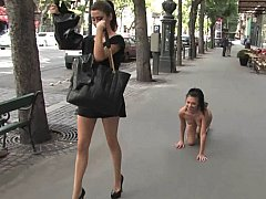 Samy  European Girl Enslaved In Public^beeg