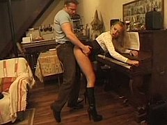 Young Musician Ass Fucked During Piano Lesson^beeg