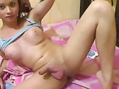 Magnificent Shemale Blonde Teen On Webcam Loves When Boys Watch Her
