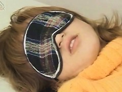 Tied Up Japanese Teen Girl Gets Hairy Cunt Teased