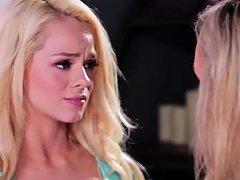 Hot Teen Elsa Jean And Milf Brandi Love Insane Lesbi Sex