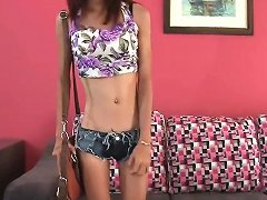 Thai Girl Auditions To Be A Gogo Dancer