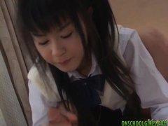 Konomi Asian Schoolgirl Enjoys Playing With C